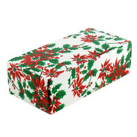 5 1/2 inch x 2 3/4 inch x 1 3/4 inch 1-Piece 1/2 lb. Poinsettia Candy Box - 250 / Case