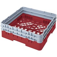 Cambro BR578163 Red Camrack Full Size Open Base Rack with 2 Extenders
