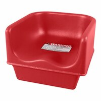 Cambro 100BC Hot Red Single Height Booster Seat
