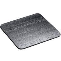 Cal-Mil 1522-1212-65 12 inch Black Square Slate Serving / Display Stone
