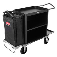 Rubbermaid FG9T6200BLA High Capacity Housekeeping Cart