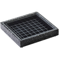 Cal-Mil 330-6-31 6 inch Black Ice Square Drip Tray