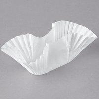 Hoffmaster 610750 White Paper Fluted Burger Cup / Taco Holder / Bagel Blanket - 250/Pack