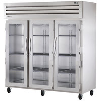 True STG3R-3G Specification Series Three Section Glass Door Reach In Refrigerator - 85 Cu. Ft.