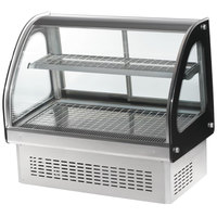 Vollrath 40847 60 inch Curved Glass Drop In Heated Countertop Display Cabinet