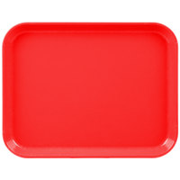 Cambro 1014CL163 10 inch x 14 inch Red Camlite Tray   - 12/Case