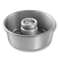 Chicago Metallic 46535 7 1/2 inch Glazed Aluminum Angel Food Cake Pan - 3 inch Deep