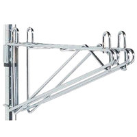 Metro 2WS24C Post-Type Wall Mount Shelf Support for Adjoining Super Erecta Chrome 24 inch Deep Wire Shelving