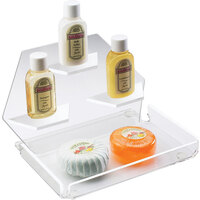 Cal-Mil 161-12 Clear Amenity Tray with Three Shelves - 7 1/2 inch x 7 1/2 inch x 5 inch