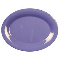 12 inch x 9 inch Oval Purple Platter 12 / Pack