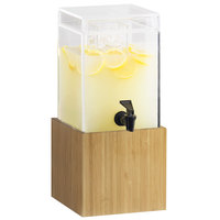 Cal-Mil 1527-1-60 1.5 Gallon Bamboo Beverage Dispenser - 8 1/4 inch x 9 3/4 inch x 17 3/4 inch