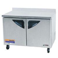 Turbo Air TWF-48SD 48 inch Super Deluxe Two Door Worktop Freezer - 12 cu. ft.