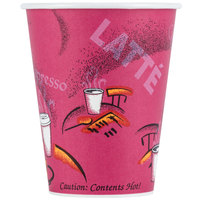 Dart Solo 378SI-0041 Bistro 8 oz. Poly Paper Hot Cup - 1000 / Case