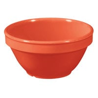 GET BC-170-RO Diamond Mardi Gras 8 oz. Rio Orange Melamine Bowl - 48 / Case