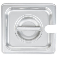 Choice 1/6 Size Stainless Steel Slotted Steam Table / Hotel Pan Cover