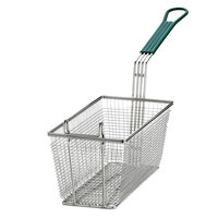 11 inch x 5 1/2 inch x 4 inch Twin Fryer Basket with Front Hook