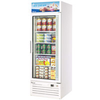 Turbo Air TGF-23F White 27 inch Single Glass Door Merchandising Freezer - 23 Cu. Ft.