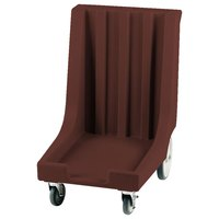 Cambro CD1826HB131 Dark Brown Camdolly with Rear Easy Wheels for 18 inch x 26 inch Trays - 80 Tray Capacity