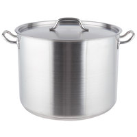 40 Qt. Heavy-Duty Stainless Steel Stock Pot with Cover