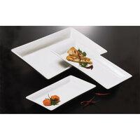 American Metalcraft Prestige CER19 14 1/4 inch x 7 1/2 inch White Rectangular Ceramic Platter