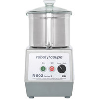 Robot Coupe R602B Food Processor with 7 Qt. Stainless Steel Bowl and Two Speeds - 3 hp