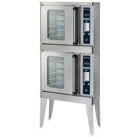 Alto-Shaam 2-ASC-2E/STK/E Platinum Series Stacked Half Size Electric Convection Oven with Electronic Controls - 240V, 3 Phase, 5000W