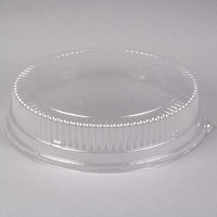 Durable Packaging 16DL 16 inch Clear Plastic Round High Dome Lid - 5/Pack