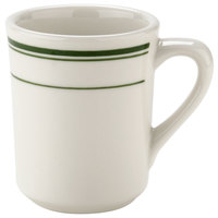 Tuxton TGB-017 Green Bay 8 oz. China Tiara Mug / Cup - 36/Case