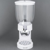 Zevro KCH-06118 White Single Canister Dry Food Dispenser