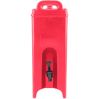 Cambro 500LCD158 Camtainer 4.75 Gallon Hot Red Insulated Beverage Dispenser