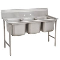 Advance Tabco 93-83-60 Regaline Three Compartment Stainless Steel Sink - 74 inch