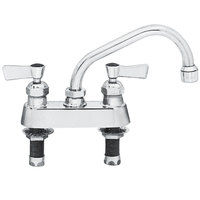 Fisher 3514 Deck-Mounted Swivel Faucet with 4 inch Centers - 14 inch Spout