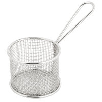 3 3/4 inch Round Stainless Steel Mini Fry Basket