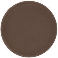 Carlisle 1100GR076 Toffee Tan 11 inch Griptite Non Skid Fiberglass Serving Tray