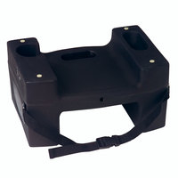 Koala Kare Booster Buddies KB117-S-02 Black Plastic Booster Seat - Dual Height with Safety Strap - 2/Pack