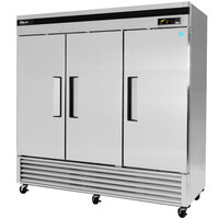 Turbo Air TSF-72SD 82 inch Super Deluxe Three Section Solid Door Reach in Freezer - 72 cu. ft.