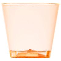 Fineline Quenchers 401-ORG 1 oz. Neon Orange Hard Plastic Shot Cup - 2500/Case
