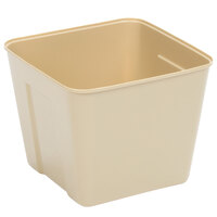 3 Qt. Beige Square Plastic Ice Bucket