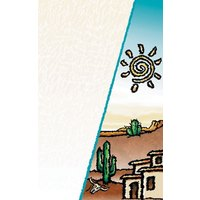 8 1/2 inch x 14 inch Menu Paper Cover - Southwest Themed Desert Design - 100/Pack