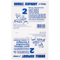 JT Eaton 182B 8 1/2 inch x 5 1/4 inch Double Jeopardy Mouse Glue Board - 2 / Pack