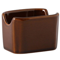 Tuxton BAQ-034 DuraTux 3 1/2 inch Caramel Sugar Packet Holder   - 12/Case