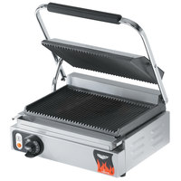Vollrath 40794 16 inch x 9 inch Grooved Top & Bottom Panini Sandwich Grill 110V