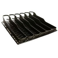 True 932631 Trueflex Black Bottle Organizer - 3 1/8 inch x 20 3/4 inch - 34 Total Lanes; for 20 oz. Bottles