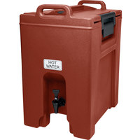 Cambro UC1000402 Brick Red Ultra Camtainer 10.5 Gallon Insulated Beverage Dispenser
