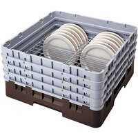Cambro CRP191011167 Brown Full Size PlateSafe Camrack 10-11 inch