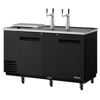 Turbo Air TCB-3SB Black 69 inch Club Top Beer Dispenser - 3 Kegs
