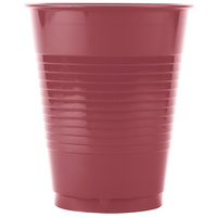Creative Converting 28312281 16 oz. Burgundy Plastic Cup - 240/Case