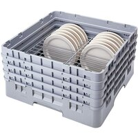 Cambro CRP181112151 Soft Gray Full Size PlateSafe Camrack 11 1/2-12 1/2 inch