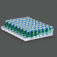 True 929834 Trueflex Bottle Organizer - 3 1/8 inch x 20 3/4 inch - 8 Lanes; for 20 oz. Bottles