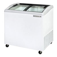Beverage Air NC34-1-W Curved Lid Display Freezer / Novelty Case - 5.7 cu. ft.